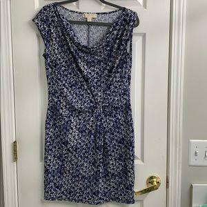NWOT Michael Kors blue patterned cinched dress